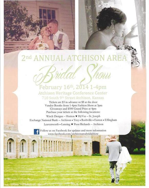 2014 Atchison Area Bridal Show @ Heritage Conference Center | Atchison | Kansas | United States